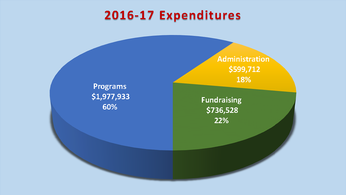 2016-17 Expenditures Graph