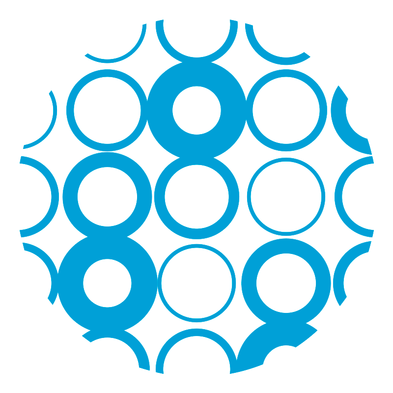 a series of circles make up the Ford Foundation logo