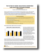 The Future of Work: Education & Workforce Gaps Affecting Colorado Women