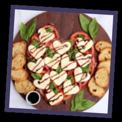 Heart Shaped Bruschetta Platter
