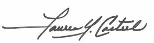 Lauren Y. Casteel Signature