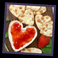 Heart Shaped Brie Platter