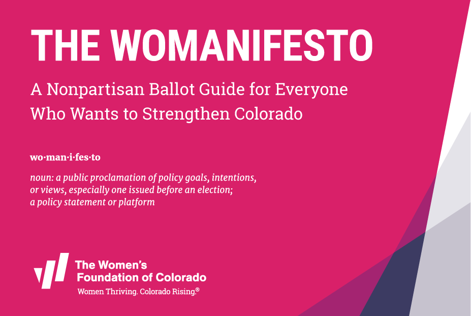 The Womanifesto 2020 definition with WFCO logo