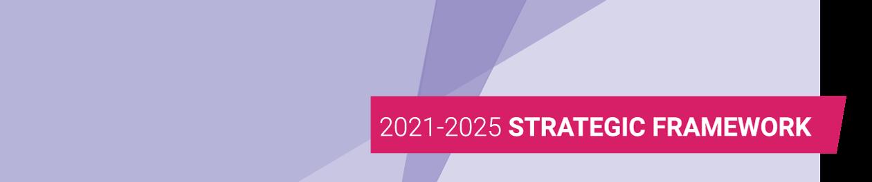 2021 - 2025 Strategic Framework banner