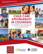 Child Care Affordability in Colorado Report