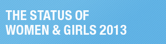 The Status of Women & Girls 2013 button
